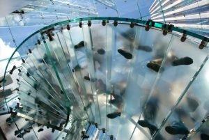 Walk-on glass